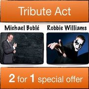 Robbie Williams & Michael Buble Double Tribute Act
